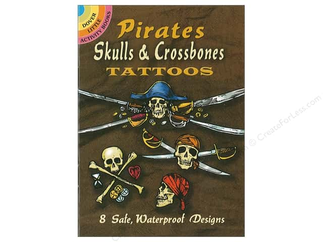 Dover Publications Little Pirates Skulls & Crossbones Tattoos Book