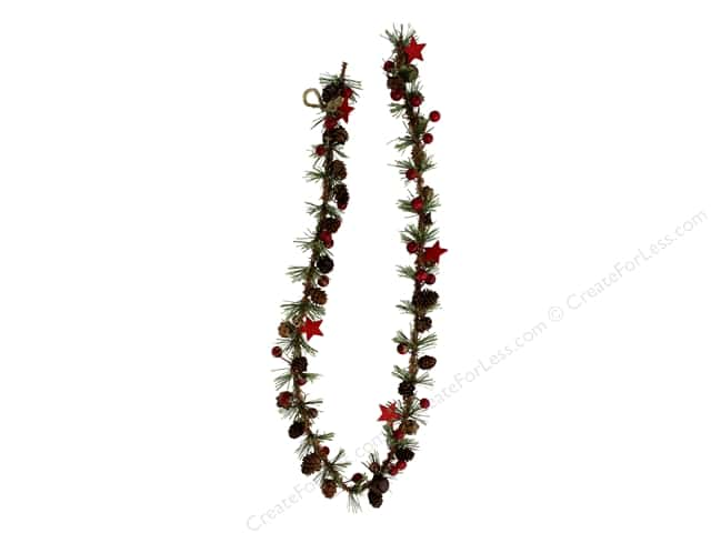 Sierra Pacific Crafts Decor Garland Spruce With Mini Pinecones, Berries & Stars