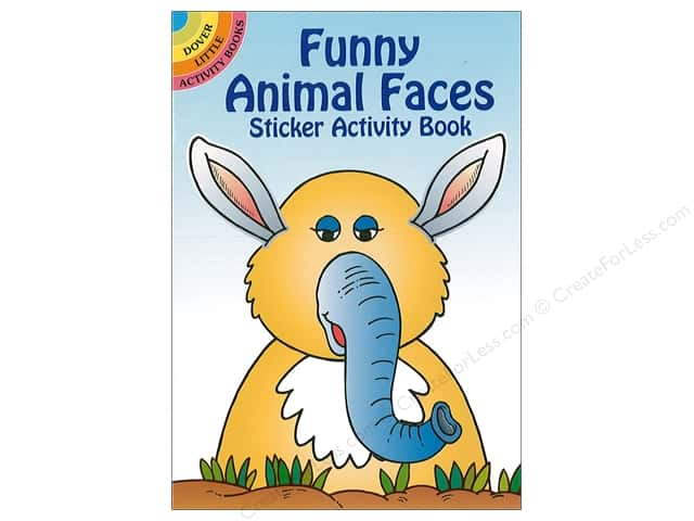 Dover Publications Little Funny Animal Faces Sticker Activity Book