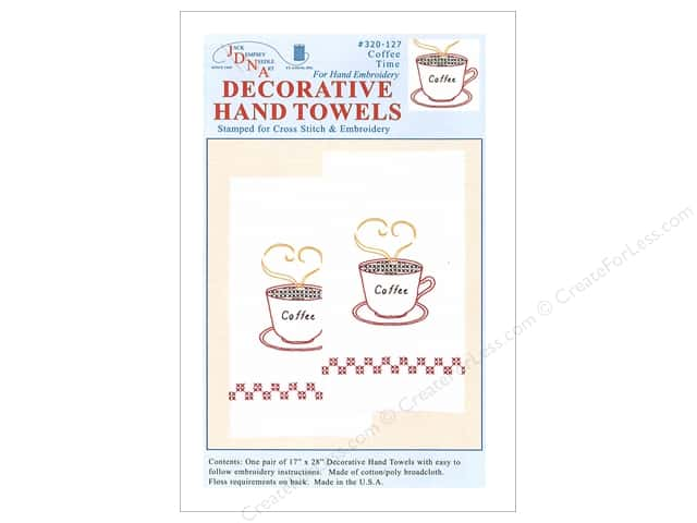 Jack Dempsey Decorative Hand Towel Coffee Time 2 pc