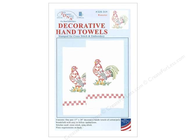 Jack Dempsey Decorative Hand Towel Rooster 2 pc