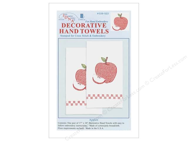 Jack Dempsey Decorative Hand Towel Apples 2 pc