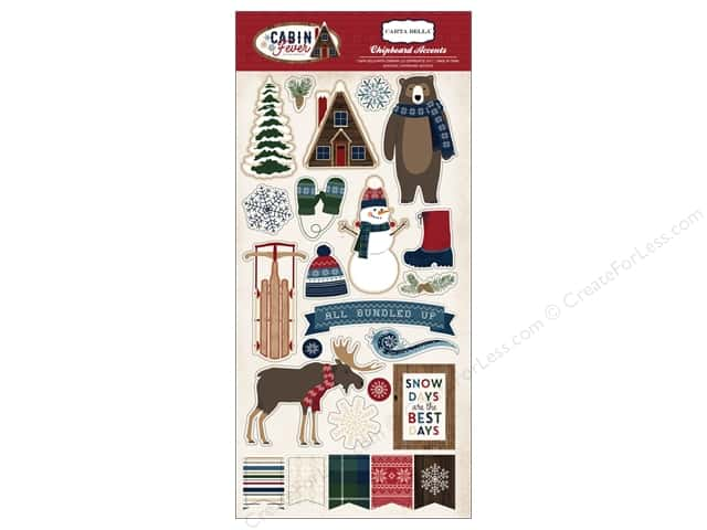 "Carta Bella Collection Cabin Fever Chipboard 6""x 12"""