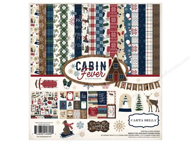 "Carta Bella Collection Cabin Fever Collection Kit 12""x 12"""
