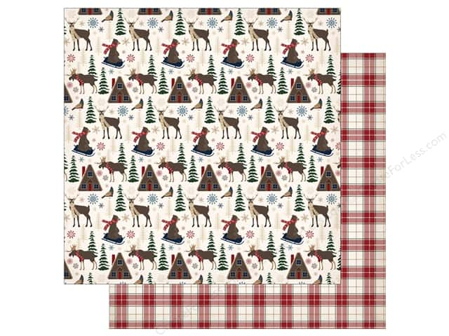 "Carta Bella Collection Cabin Fever Paper 12""x 12"" Woodland Creatures (25 pieces)"