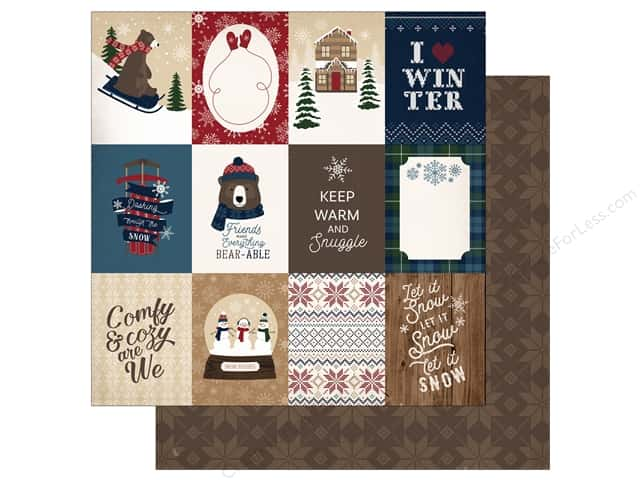 "Carta Bella Collection Cabin Fever Paper 12""x 12"" Journal Cards 3""x 4"" (25 pieces)"