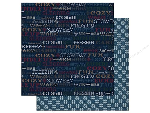 "Carta Bella Collection Cabin Fever Paper 12""x 12"" Winter Fun (25 pieces)"