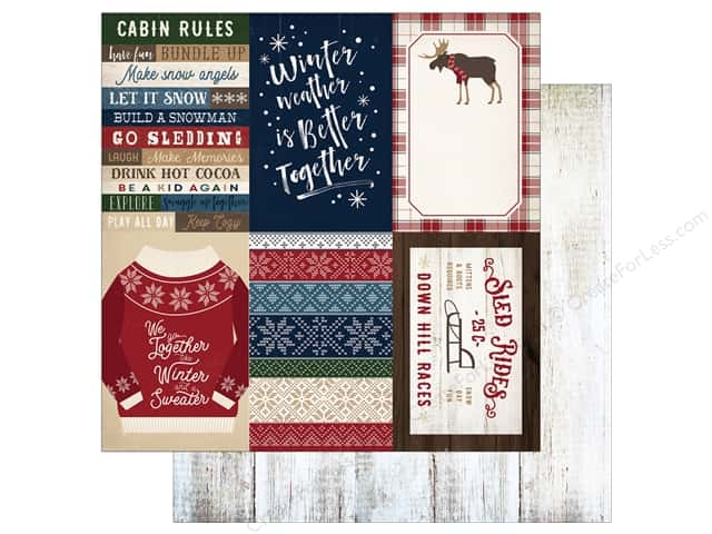 "Carta Bella Collection Cabin Fever Paper 12""x 12"" Journal Cards 4""x 6"" (25 pieces)"