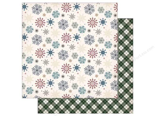 "Carta Bella Collection Cabin Fever Paper 12""x 12"" Snowed In (25 pieces)"