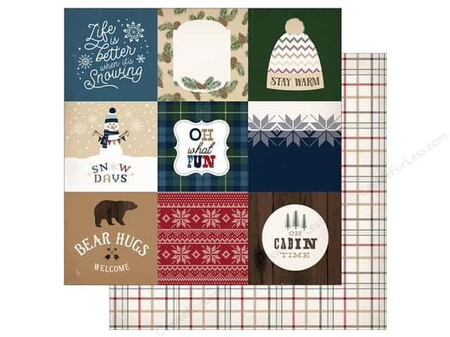 "Carta Bella Collection Cabin Fever Paper 12""x 12"" Journal Cards 4""x 4"" (25 pieces)"