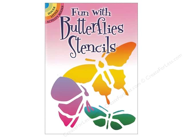 Dover Publications Little Fun With Butterflies Stencils Book