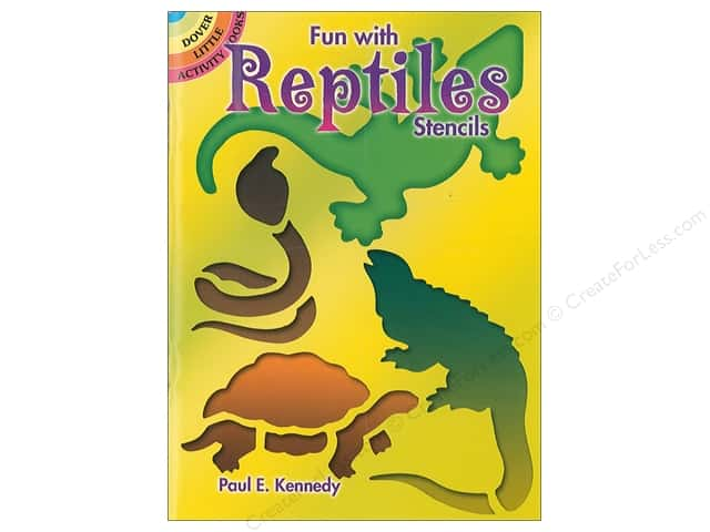 Dover Publications Little Fun With Reptiles Stencils Book