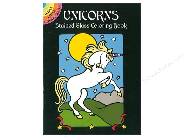 Dover Publications Little Unicorns Stained Glass Coloring Book