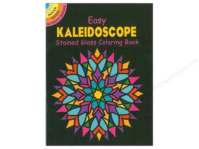 Dover Publications Little Easy Kaleidoscope Stained Glass Coloring Book
