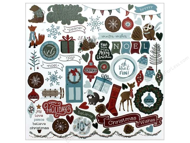 Photo Play Collection Winter Meadow Sticker Element 12 in. x 12 in. (12 pieces)