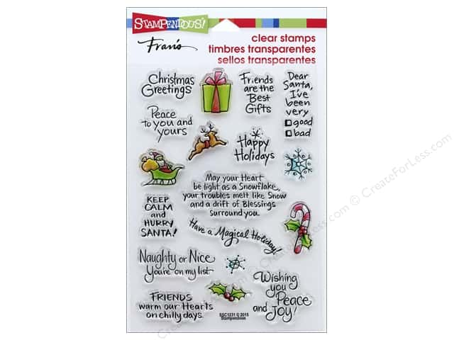 Stampendous Clear Stamp Christmas Holiday Expressions