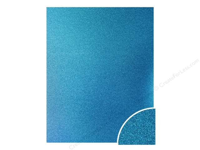 Paper Accents Glitter Cardstock 22 in. x 28 in. #G08 Ocean Blue (10 pieces)