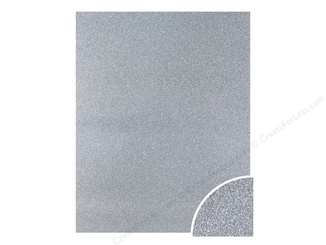 Paper Accents Glitter Cardstock 22 in. x 28 in. #G12 Silver (10 pieces)