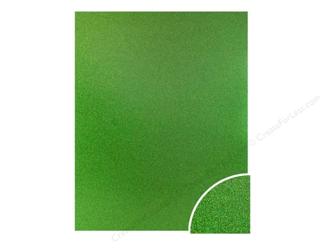 Paper Accents Glitter Cardstock 22 x 28 in. #G52 Kiwi Green (10 pieces)