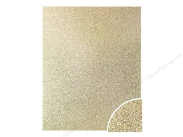 Paper Accents Glitter Cardstock 22 x 28 in. Light Gold 10 pc.