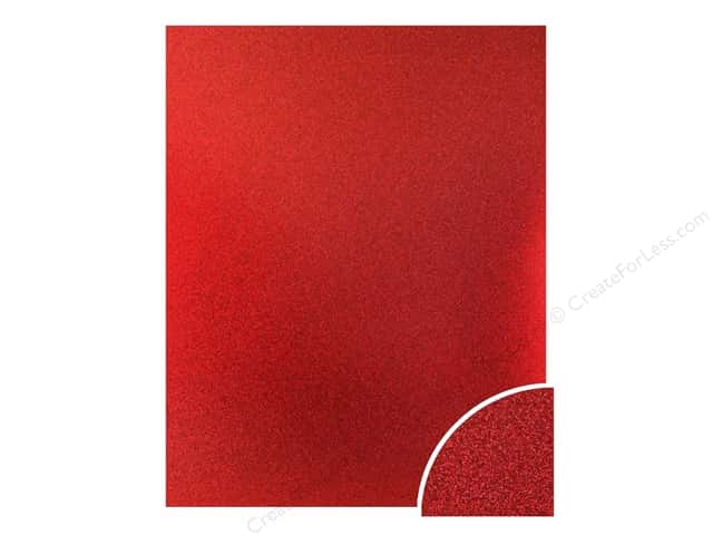 Paper Accents Glitter Cardstock 22 x 28 in. #G04 Red (10 pieces)