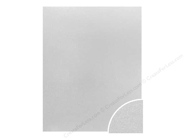 Paper Accents Glitter Cardstock 22 x 28 in. #G13 White (10 pieces)