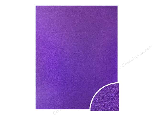 Paper Accents Glitter Cardstock 22 in. x 28 in. #G46 Grape Jam (10 pieces)