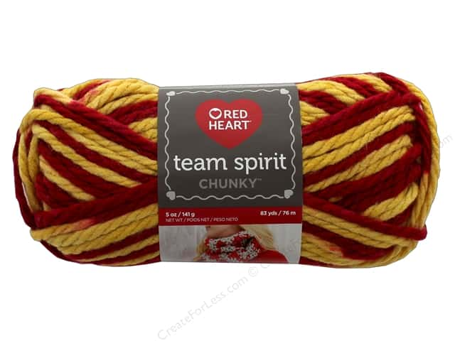 Red Heart Team Spirit Chunky Yarn 83 yd. #9964 Burgundy/Gold