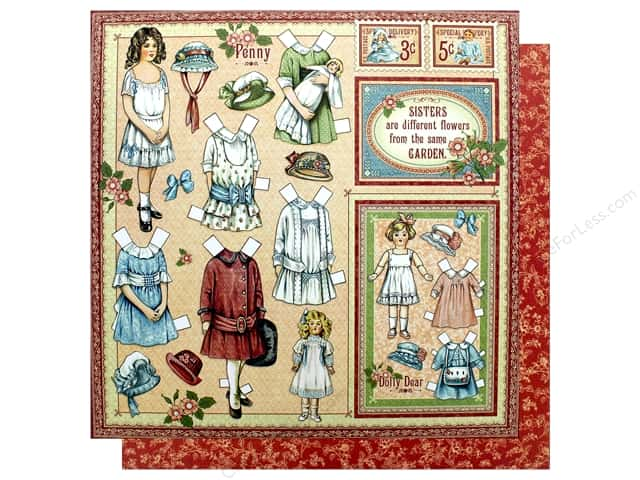 Graphic 45 Collection Penny's Paper Doll Paper 12 in. x 12 in. Sweet Sister (25 pieces)