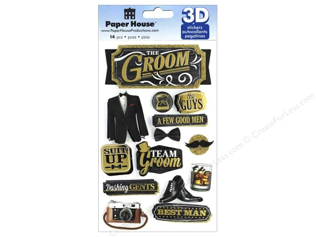 Paper House Sticker 3D Groom