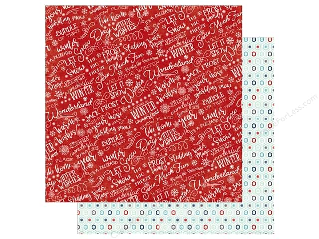 Echo Park A Perfect Winter Paper 12 in. x 12 in. Welcome Winter (25 pieces)