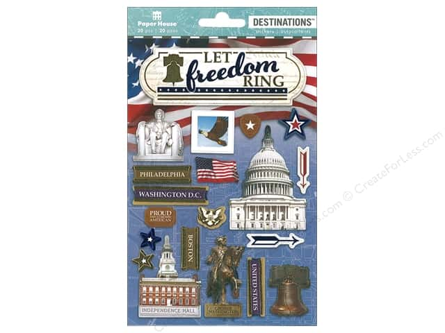 Paper House Sticker 3D Destinations Let Freedom Ring