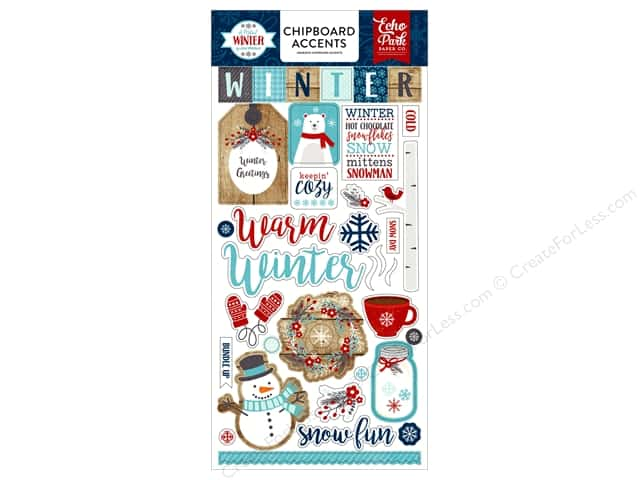 Echo Park A Perfect Winter Chipboard 6 in. x 12 in.