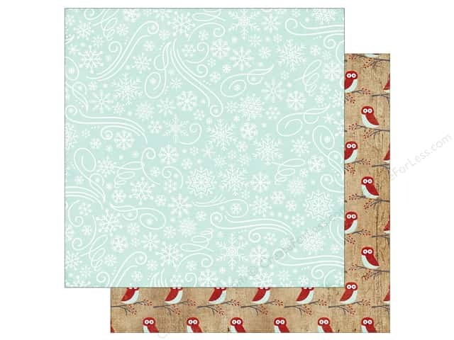 Echo Park A Perfect Winter Paper 12 in. x 12 in. Snowflake Swirls (25 pieces)