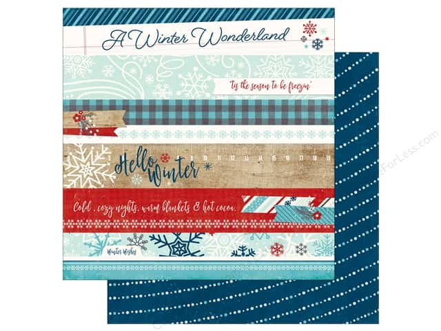 Echo Park A Perfect Winter Paper 12 in. x 12 in. Border Strips (25 pieces)