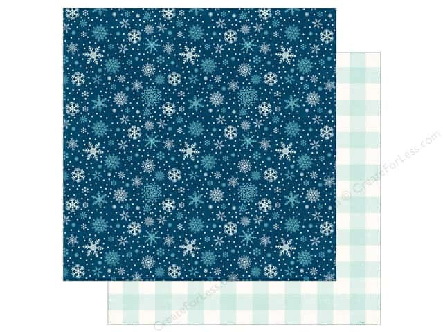 Echo Park A Perfect Winter Paper 12 in. x 12 in. Snowy Night (25 pieces)