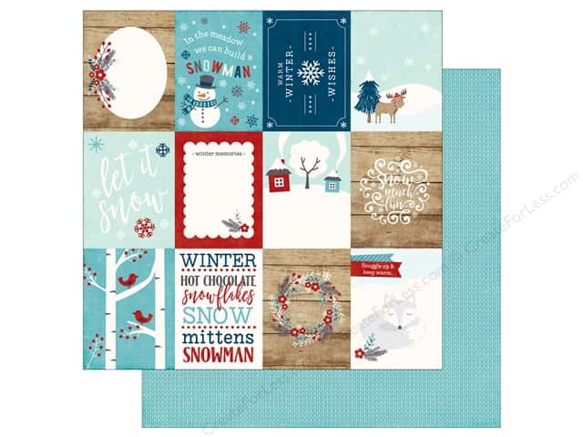 Echo Park A Perfect Winter Paper 12 in. x 12 in. Journaling Cards 3 in. x 4 in. (25 pieces)