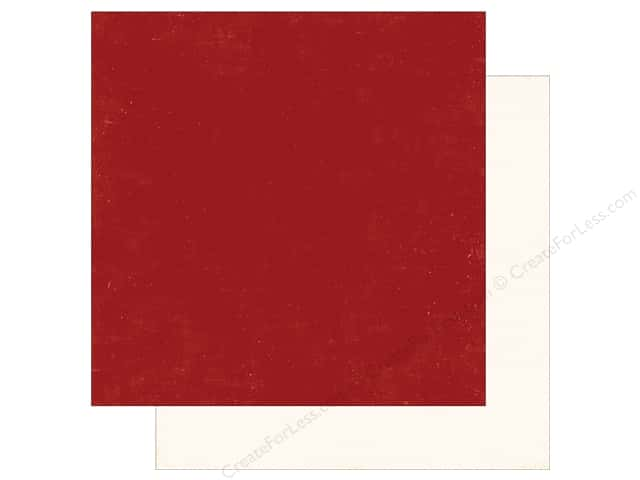 Echo Park A Perfect Winter Paper 12 in. x 12 in. Red/Cream (25 pieces)