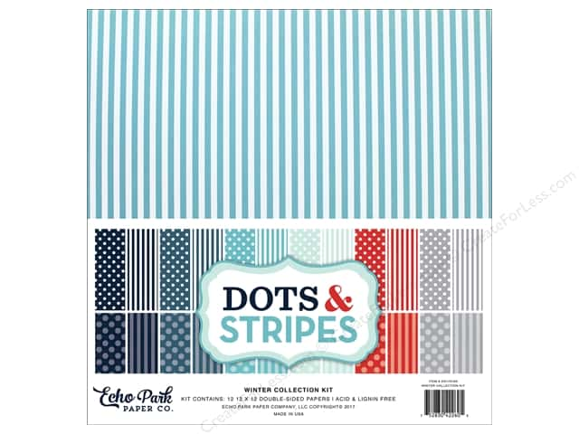 Echo Park Dots & Stripes Winter Kit 12 in. x 12 in.