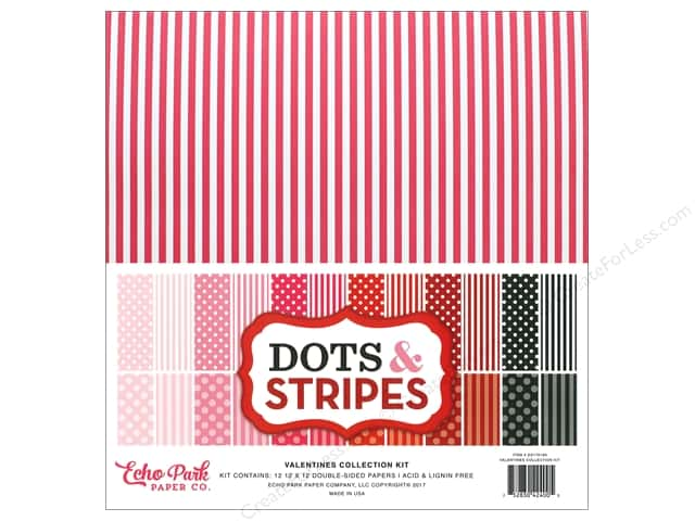 "Echo Park Dot & Stripe Valentine Kit 12""x 12"""