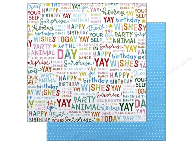 Pebbles Happy Hooray Paper 12 in. x 12 in. Hooray (25 pieces)