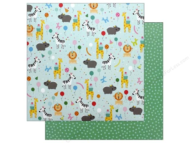 Pebbles Happy Hooray Paper 12 in. x 12 in. Party Animal (25 pieces)