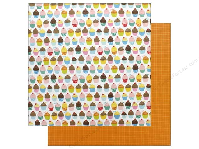 Pebbles Happy Hooray Paper 12 in. x 12 in. Eat Cake (25 pieces)