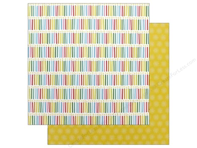 Pebbles Happy Hooray Paper 12 in. x 12 in. Make A Wish (25 pieces)