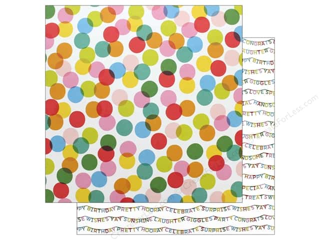 Pebbles Happy Hooray Paper 12 in. x 12 in. Celebrate (25 pieces)