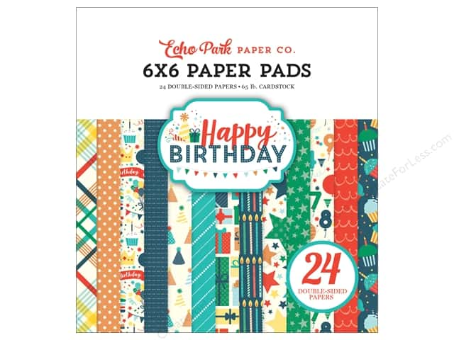 Echo Park Happy Birthday Boy Paper Pad 6 in. x 6 in.