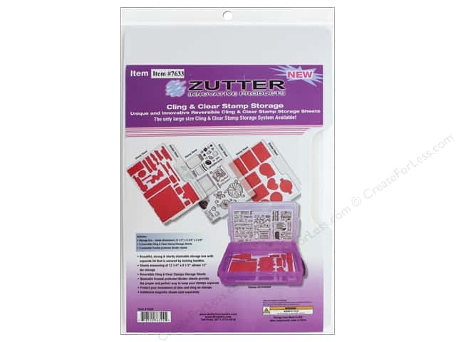 Zutter Storage System Cling & Clear Stamp Sheets Large 3 pc