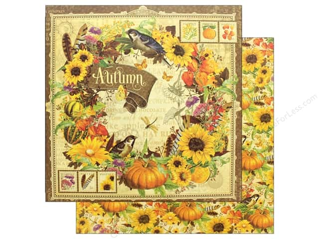 Graphic 45 12 x 12 in. Paper Seasons Autumn (25 pieces)