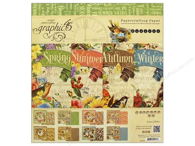 Graphic 45 8 x 8 in. Paper Pad Seasons