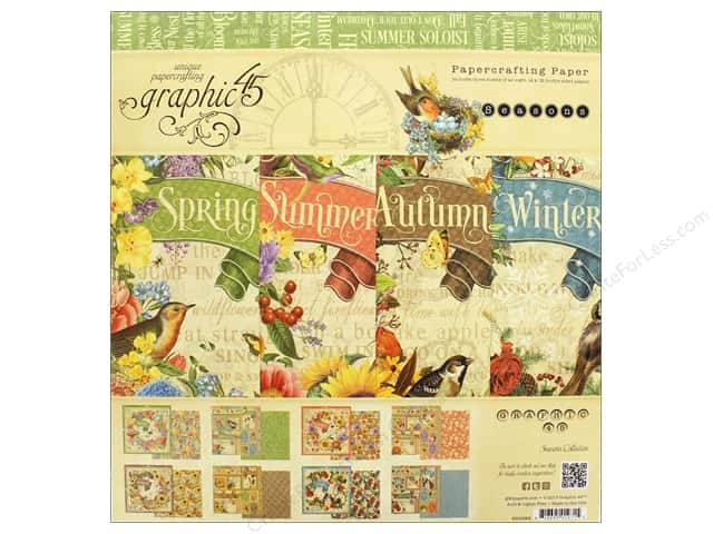 Grpahic 45 Seasons Paper Pad 12 in. x 12 in.